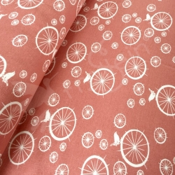 Birch Interlock Knit - Birdie Spokes -Coral