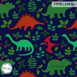 Organic Cotton Jersey - Christmas Dinos