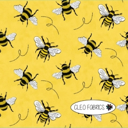 Organic Cotton Jersey - Bees