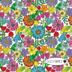 Organic Cotton Jersey - Spring Flowers