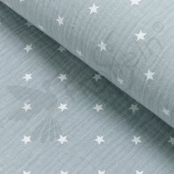 Double Gauze - Small Stars - gray