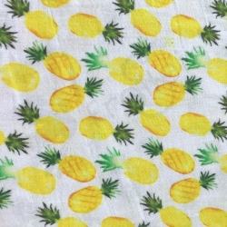 Organic Double Gauze - Pineapples