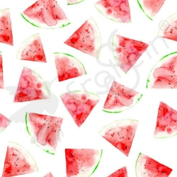 Organic Double Gauze - Watermelon