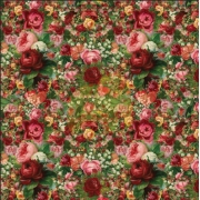 "Cotton Jersey - Roses - 26"" x 53"" yds"