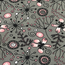Organic Cotton Jersey - Blossom-gray-gradient rose