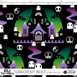 Organic Cotton Jersey - Gradient BOO-purple-green