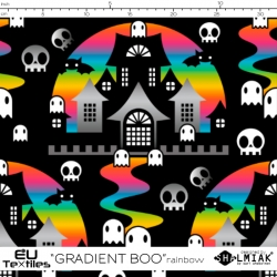 Organic Cotton Jersey - Gradient BOO-rainbow