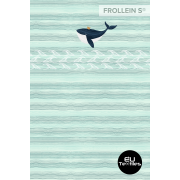 Organic Cotton Jersey-Whale-Panel-mint
