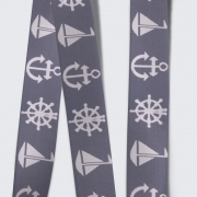 Elastic Tape-Anchor-Wheel-Boat-Gray