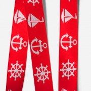 Elastic Tape-Anchor-Wheel-Boat-Red