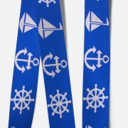 Elastic Tape-Anchor-Wheel-Boat-Royal Blue