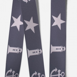 Elastic Tape-Anchor-Lighthouse-Star-Dark Gray