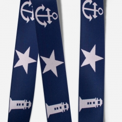 Elastic Tape-Anchor-Lighthouse-Star-Navy Blue