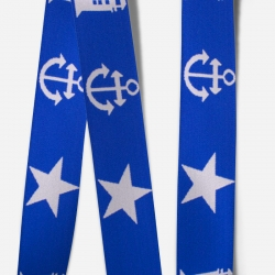 Elastic Tape-Anchor-Lighthouse-Star-Royal Blue