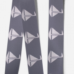 Elastic Tape-Sailboat-Dark Gray