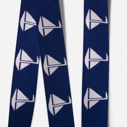 Elastic Tape-Sailboat-Navy Blue