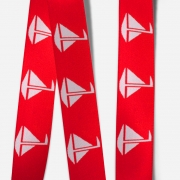 Elastic Tape-Sailboat-Red