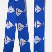 Elastic Tape-Sailboat-Royal Blue