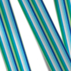 Elastic Tape - Multi Stripes-blue