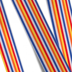 Elastic Tape - Multi Stripes-blue-red