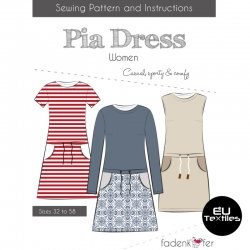 Sewing Pattern-Pia Dress-Women-EN