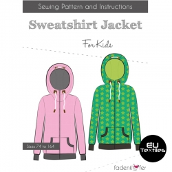 Sewing Pattern-Sweatshirt Jacket-Kids-EN