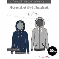 Sewing Pattern-Sweatshirt Jacket-Men-EN