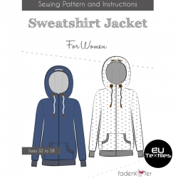 Sewing Pattern-Sweatshirt Jacket-Women-EN