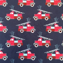 Sweater Knit - Firetrucks