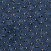 Sweat Fabric - Spiders - Blue