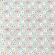 Cotton Jersey - Flowers - Blue