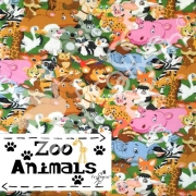 Cotton Jersey - Zoo Animals