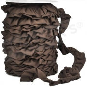 Ruffle Trim - Dark Brown