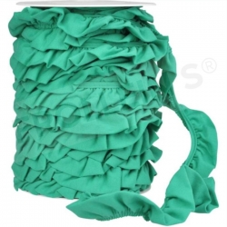 Ruffle Trim - Emerald