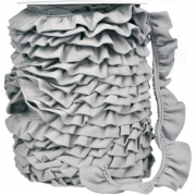 Ruffle Trim - Gray