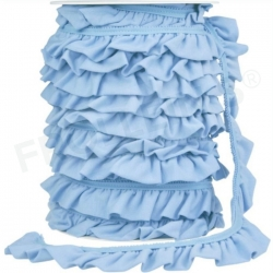 Ruffle Trim - Light Blue