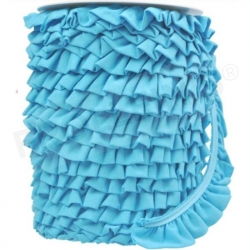 Ruffle Trim - Light Turquoise
