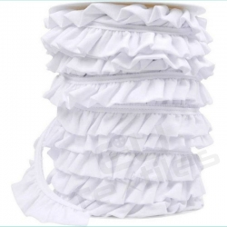 Ruffle Trim - White