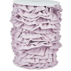 Ruffle Trim - Rose Melange