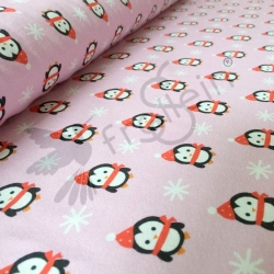Cotton Jersey - Little Christmas Penguins