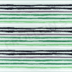 Cotton Jersey - Distressed Stripes - Green
