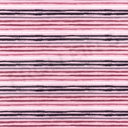 Cotton Jersey - Distressed Stripes - Pink