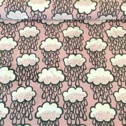Organic Cotton Jersey - Rainclouds - Old Rose