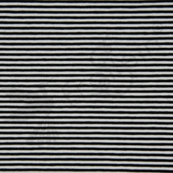 Cotton Jersey - Stripes 3 mm - Black/White