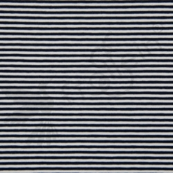 Cotton Jersey - Stripes 3 mm - Navy/White