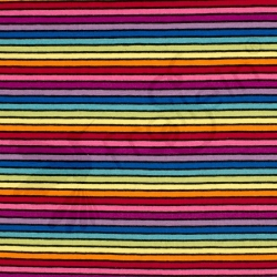 Cotton Jersey - Rainbow Stripes-Black