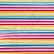 Cotton Jersey - Rainbow Stripes-White