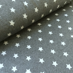 Happy Fleece - Gray - white stars