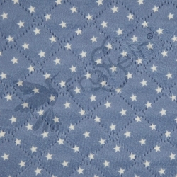 Quilted Teddy - Stars - Jeansblue
