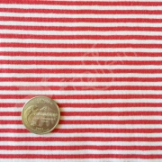 Cotton Jersey - Stripes 3 mm - Red/White